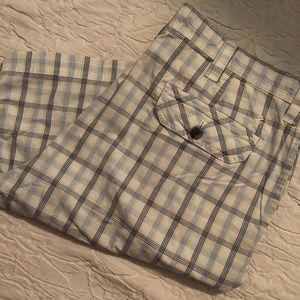 Izod Shorts - Izod Luxury Sport Plaid Shorts, EUC, sz. 38, $12